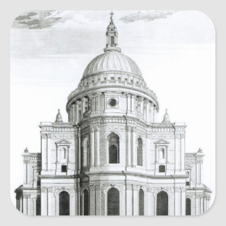 The East Prospect of St. Paul's Cathedral Square Sticker