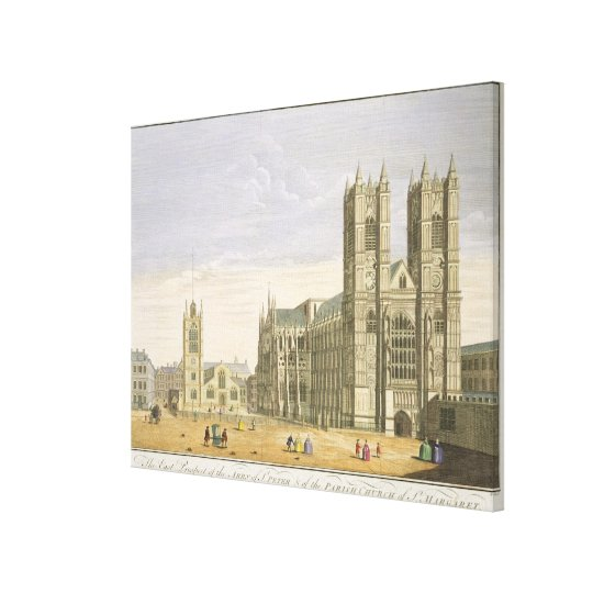 The East Prospect of the Abbey of St. Peter and th Canvas Print