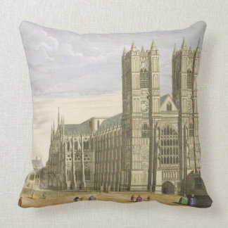 The East Prospect of the Abbey of St. Peter and th Throw Pillow