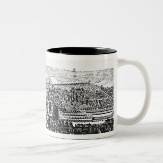 The East Prospect of the City of Winchester Two-Tone Coffee Mug
