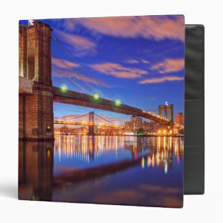The East River, Brooklyn Bridge, Manhattan Binder