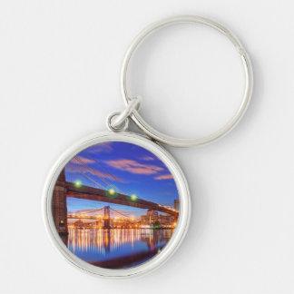 The East River, Brooklyn Bridge, Manhattan Keychain
