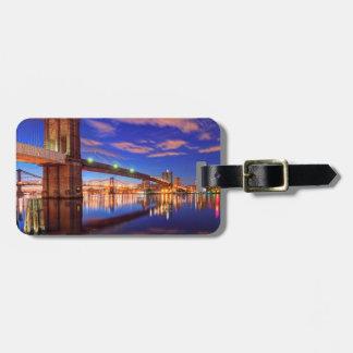 The East River, Brooklyn Bridge, Manhattan Luggage Tag