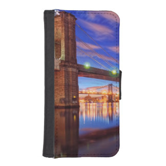 The East River, Brooklyn Bridge, Manhattan Wallet Phone Case For iPhone SE/5/5s