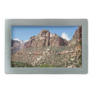 The East Temple Zion National Park in Utah Rectangular Belt Buckle