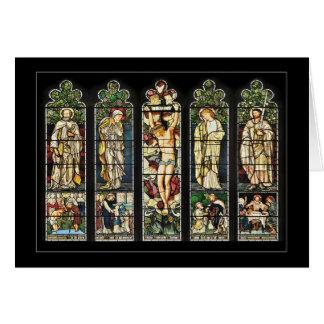 The East Window, Troutbeck Church, Cumbria Greeting Card