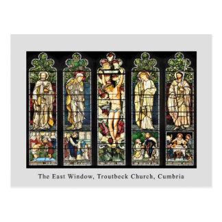 The East Window, Troutbeck Church, Cumbria Postcard