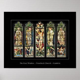 The East Window, Troutbeck Church, Cumbria poster