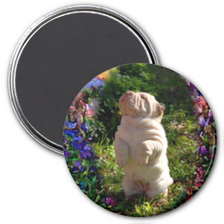 The Easter Bunnie 3 Inch Round Magnet