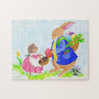 The Easter Bunny and Heddy Hedgehog Puzzle