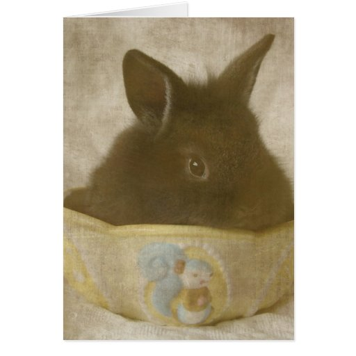 The Easter Bunny In a Candy Dish Card