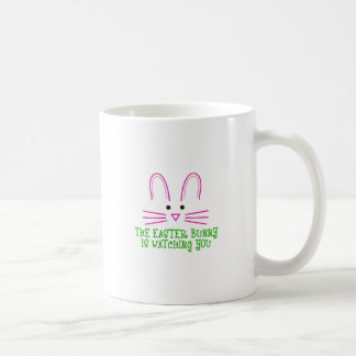 THE EASTER BUNNY IS WATCHING YOU CLASSIC WHITE COFFEE MUG
