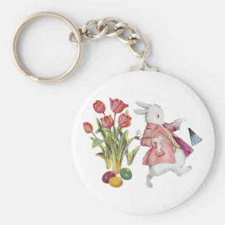 The Easter Bunny Runs Away Key Chain