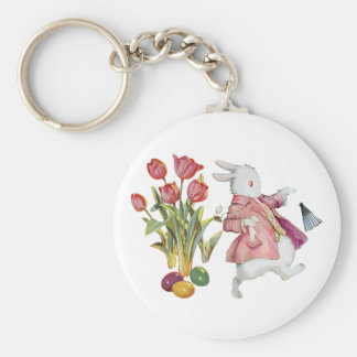 The Easter Bunny Runs Away Keychain