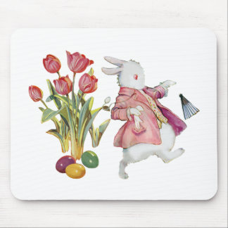 The Easter Bunny Runs Away Mouse Pad