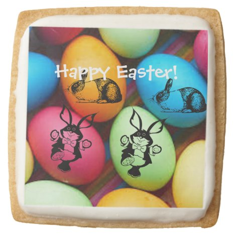 The Easter Bunny Square Shortbread Cookie