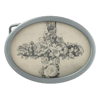 The Easter Cross by Currier & Ives 1869 Oval Belt Buckles