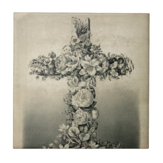 The Easter Cross by Currier & Ives 1869 Tile