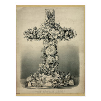 The Easter Cross by Ives 1869 Postcard