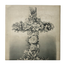 The Easter Cross by Ives 1869 Tile