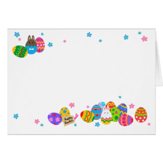 < The Easter egg and the rabbit it is piled up, Card