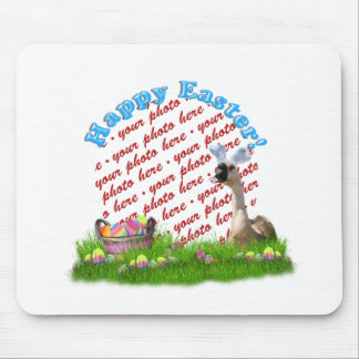 The Easter Goose Photo Frame Mouse Pad