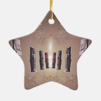 The Easter Island Double-Sided Star Ceramic Christmas Ornament