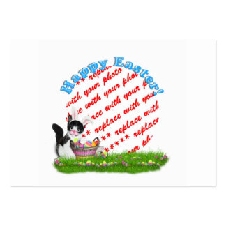 The Easter Kitten  Photo Frame Large Business Cards (Pack Of 100)