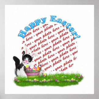 The Easter Kitten  Photo Frame Poster