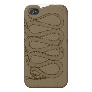 The Eastern Dragon Ancient Scroll iPhone 4/4S Covers