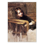 The Easy Chair by John William Waterhouse Cards