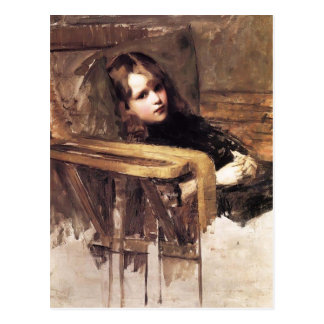 The Easy Chair by John William Waterhouse Postcard