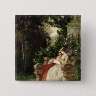 The Eavesdropper, 1868 Pinback Button