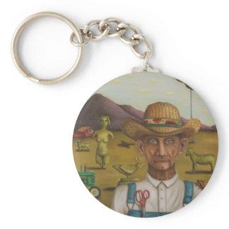 The Eccentric Farmer Keychain
