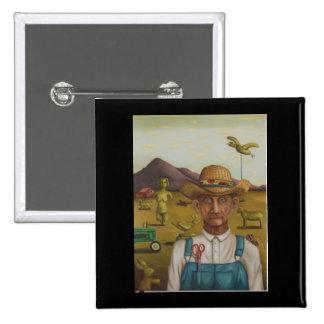 The Eccentric Farmer Pinback Button