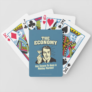 The Economy: Midday Martini Bicycle Playing Cards