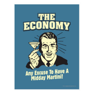 The Economy: Midday Martini Post Cards