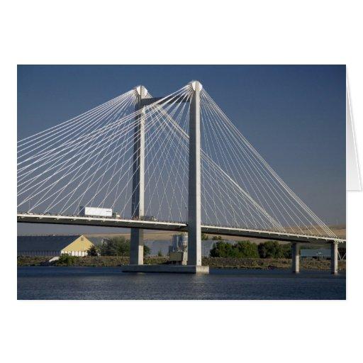 The Ed Hendler Bridge spans the Columbia River Card