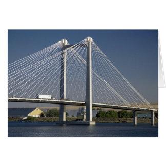 The Ed Hendler Bridge spans the Columbia River Greeting Card