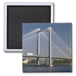 The Ed Hendler Bridge spans the Columbia River 2 Inch Square Magnet