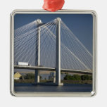 The Ed Hendler Bridge spans the Columbia River Metal Ornament