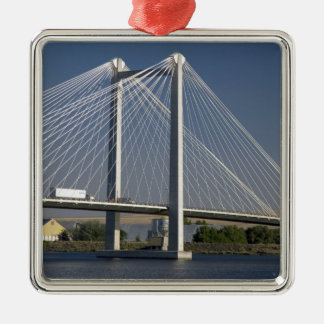 The Ed Hendler Bridge spans the Columbia River Metal Ornament
