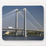The Ed Hendler Bridge spans the Columbia River Mouse Pad