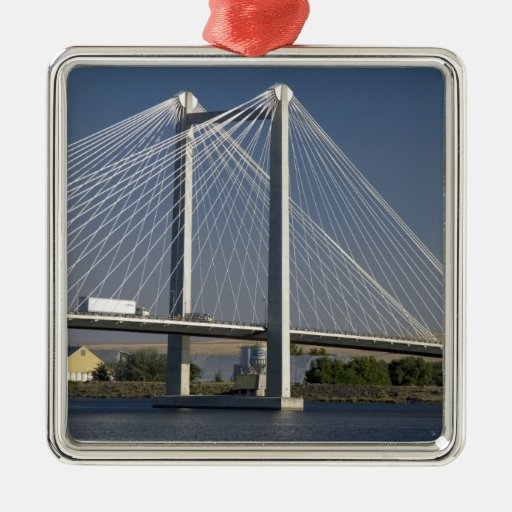 The Ed Hendler Bridge spans the Columbia River Christmas Tree Ornaments