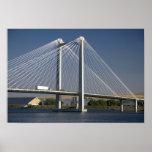 The Ed Hendler Bridge spans the Columbia River Print