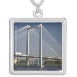 The Ed Hendler Bridge spans the Columbia River Square Pendant Necklace