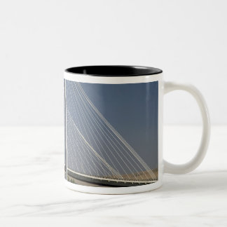 The Ed Hendler Bridge spans the Columbia River Two-Tone Coffee Mug