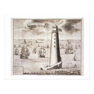 The Eddystone Lighthouse, engraved by Hendrick Hul Postcard