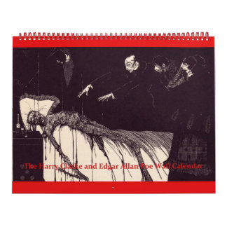 The Edgar Allan Poe and Harry Clarke Wall Calendar