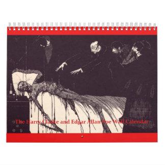 The Edgar Allan Poe and Harry Clarke Wall Calendar